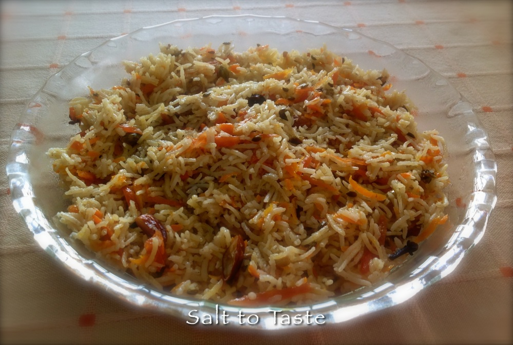 Carrot rice 26 July 2014