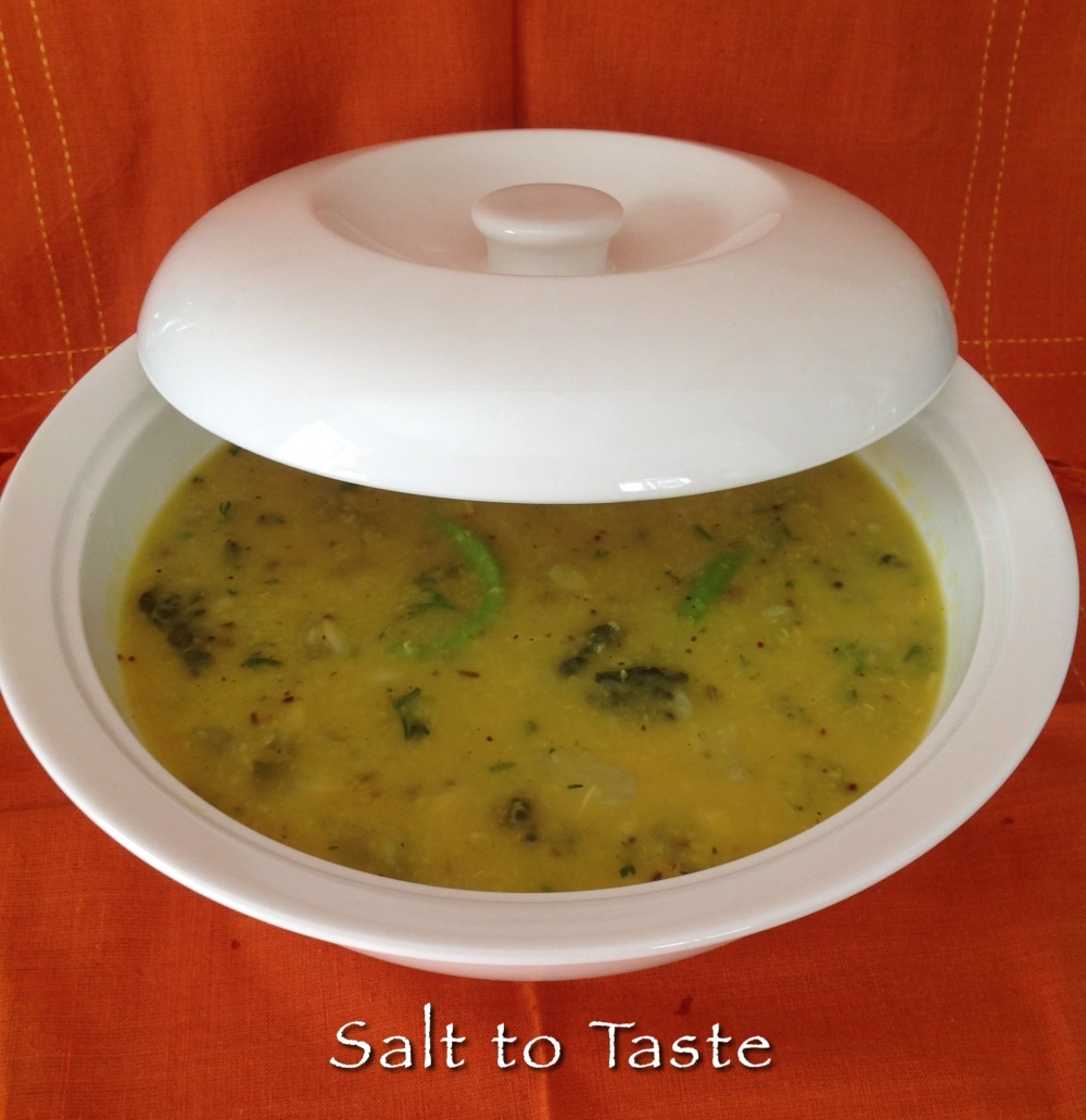 Oil-free dhal 22 July 2014