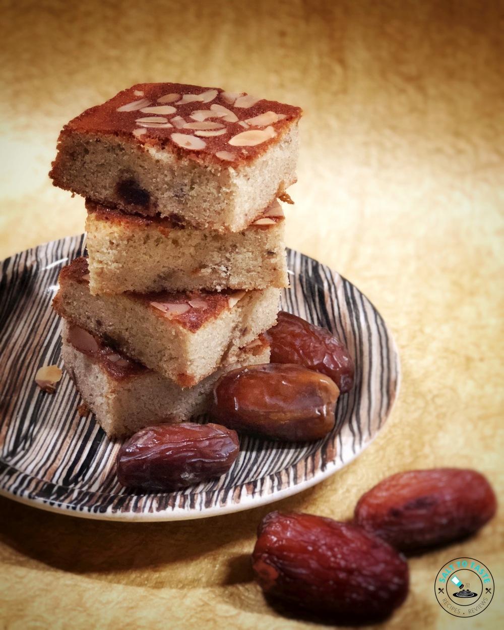 Almond date cake