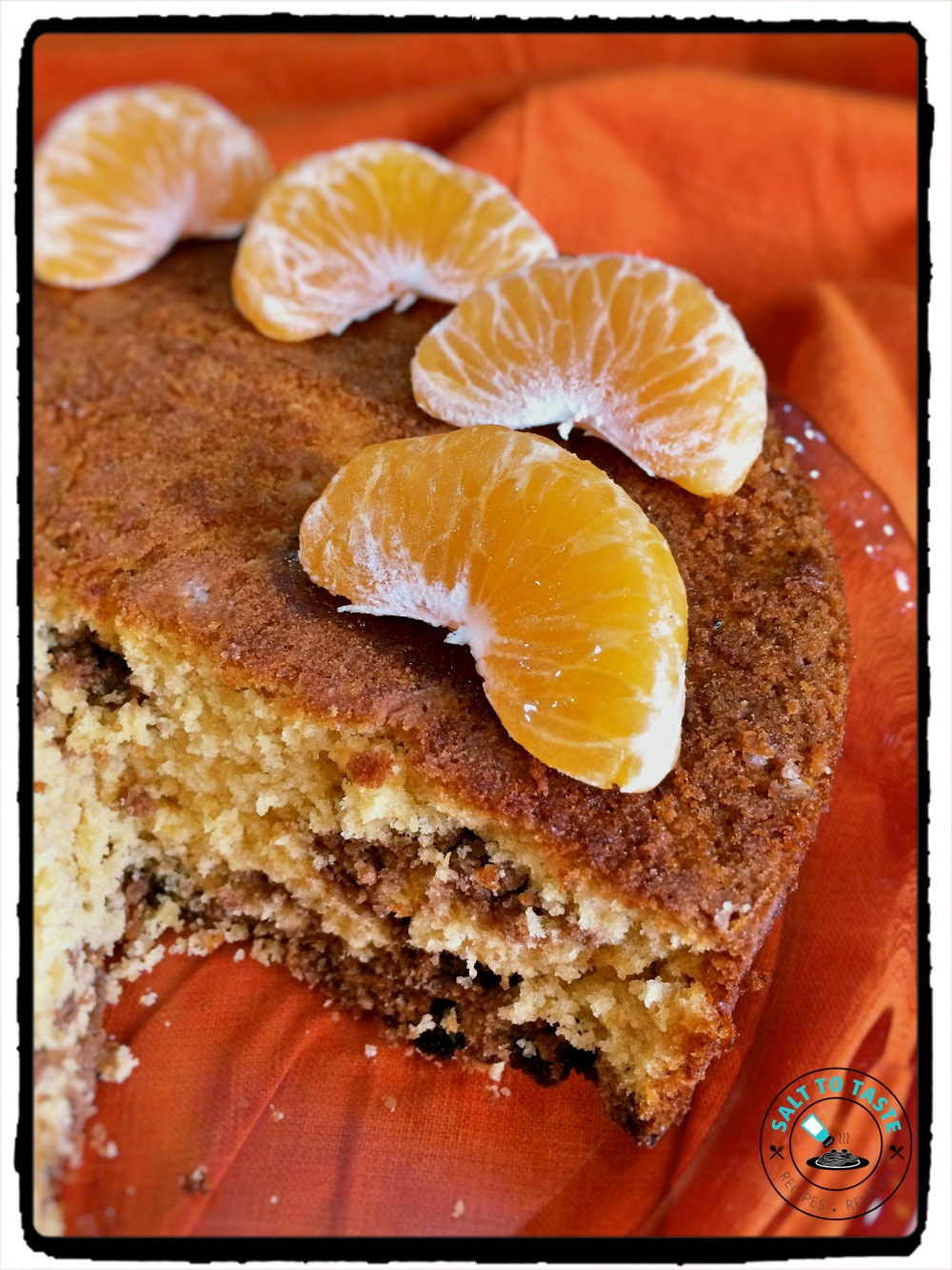 Orange Chocolate Sponge Cake